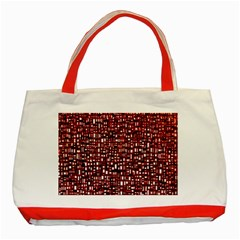 Red Box Background Pattern Classic Tote Bag (Red)