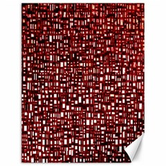 Red Box Background Pattern Canvas 12  X 16