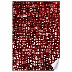 Red Box Background Pattern Canvas 12  x 18
