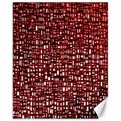 Red Box Background Pattern Canvas 16  X 20