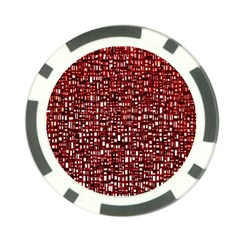 Red Box Background Pattern Poker Chip Card Guard