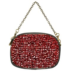 Red Box Background Pattern Chain Purses (One Side)