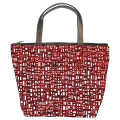 Red Box Background Pattern Bucket Bags