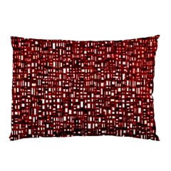 Red Box Background Pattern Pillow Case