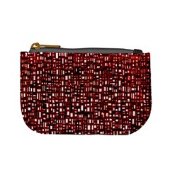 Red Box Background Pattern Mini Coin Purses