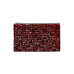 Red Box Background Pattern Cosmetic Bag (Small)