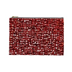 Red Box Background Pattern Cosmetic Bag (Large)