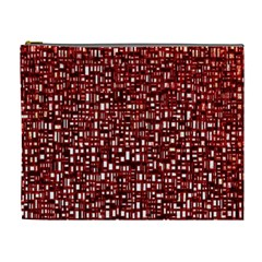 Red Box Background Pattern Cosmetic Bag (xl)