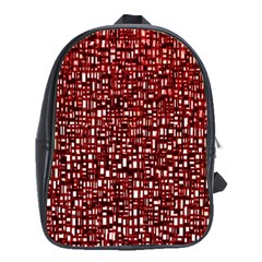 Red Box Background Pattern School Bags(Large)