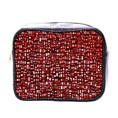 Red Box Background Pattern Mini Toiletries Bags