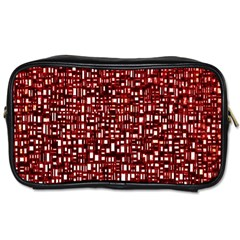 Red Box Background Pattern Toiletries Bags
