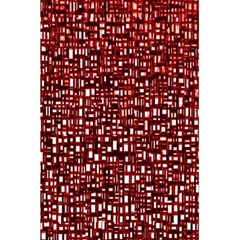 Red Box Background Pattern 5.5  x 8.5  Notebooks
