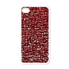 Red Box Background Pattern Apple Iphone 4 Case (white)
