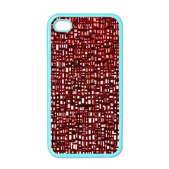 Red Box Background Pattern Apple iPhone 4 Case (Color)