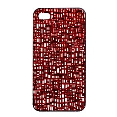 Red Box Background Pattern Apple Iphone 4/4s Seamless Case (black)