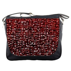 Red Box Background Pattern Messenger Bags
