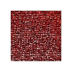 Red Box Background Pattern Acrylic Tangram Puzzle (4  X 4 )