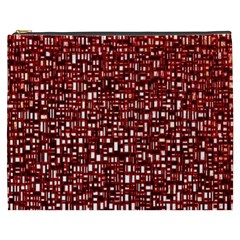 Red Box Background Pattern Cosmetic Bag (xxxl)
