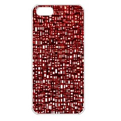 Red Box Background Pattern Apple Iphone 5 Seamless Case (white)