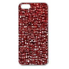 Red Box Background Pattern Apple Seamless Iphone 5 Case (clear)