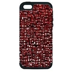 Red Box Background Pattern Apple Iphone 5 Hardshell Case (pc+silicone)