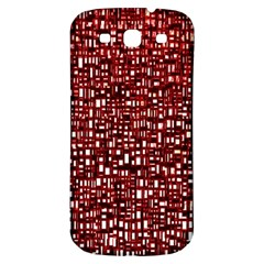 Red Box Background Pattern Samsung Galaxy S3 S Iii Classic Hardshell Back Case