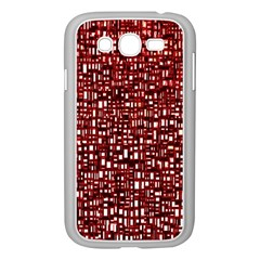 Red Box Background Pattern Samsung Galaxy Grand Duos I9082 Case (white)