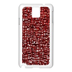 Red Box Background Pattern Samsung Galaxy Note 3 N9005 Case (White)