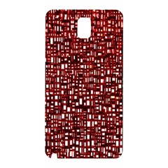 Red Box Background Pattern Samsung Galaxy Note 3 N9005 Hardshell Back Case