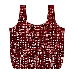 Red Box Background Pattern Full Print Recycle Bags (L)