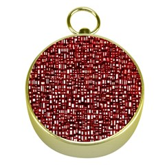 Red Box Background Pattern Gold Compasses