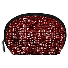 Red Box Background Pattern Accessory Pouches (large)