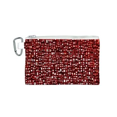 Red Box Background Pattern Canvas Cosmetic Bag (S)