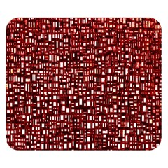 Red Box Background Pattern Double Sided Flano Blanket (Small)