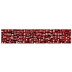 Red Box Background Pattern Flano Scarf (Small)