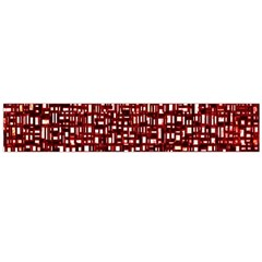 Red Box Background Pattern Flano Scarf (Large)