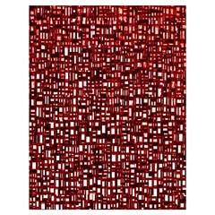Red Box Background Pattern Drawstring Bag (Large)