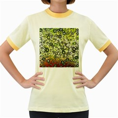 Chaos Background Other Abstract And Chaotic Patterns Women s Fitted Ringer T Shirts