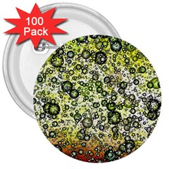 Chaos Background Other Abstract And Chaotic Patterns 3  Buttons (100 Pack)