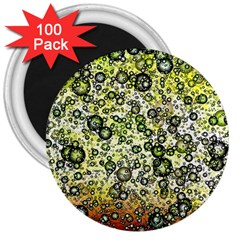 Chaos Background Other Abstract And Chaotic Patterns 3  Magnets (100 pack)