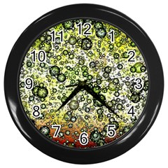 Chaos Background Other Abstract And Chaotic Patterns Wall Clocks (Black)