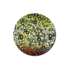 Chaos Background Other Abstract And Chaotic Patterns Rubber Round Coaster (4 Pack)