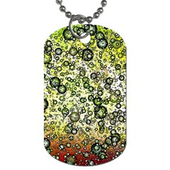 Chaos Background Other Abstract And Chaotic Patterns Dog Tag (Two Sides)