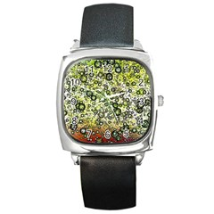 Chaos Background Other Abstract And Chaotic Patterns Square Metal Watch