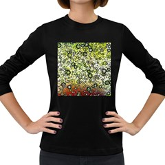 Chaos Background Other Abstract And Chaotic Patterns Women s Long Sleeve Dark T Shirts