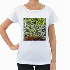 Chaos Background Other Abstract And Chaotic Patterns Women s Loose-Fit T-Shirt (White)