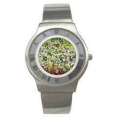 Chaos Background Other Abstract And Chaotic Patterns Stainless Steel Watch