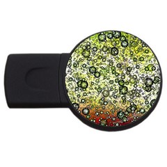 Chaos Background Other Abstract And Chaotic Patterns Usb Flash Drive Round (4 Gb)