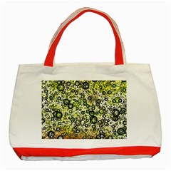 Chaos Background Other Abstract And Chaotic Patterns Classic Tote Bag (red)