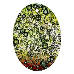 Chaos Background Other Abstract And Chaotic Patterns Oval Ornament (two Sides)
